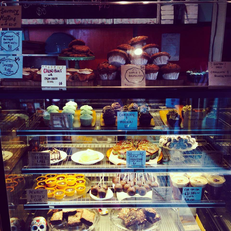 You'll be sure to find something you like in Sweet Bone's cake cabinet.