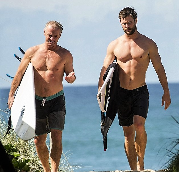 Celebrity Dads and Their Sons Bondi Beauty
