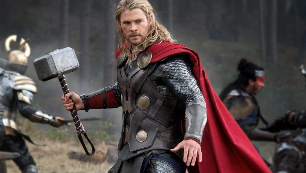Chris Hemsworth starred in Thor, and had to completely sculpt and change his body for the role.