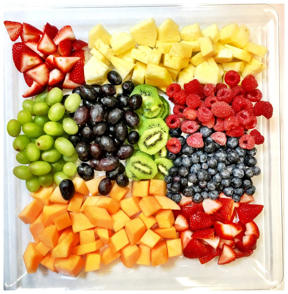 Add fruits to a cheese platter