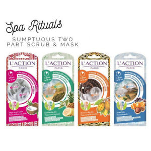 L'Action Paris Two Step Face Ritual Mask, 4 packets