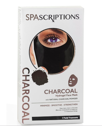 SPASCRIPTIONS Hydrogel Charcoal Mask