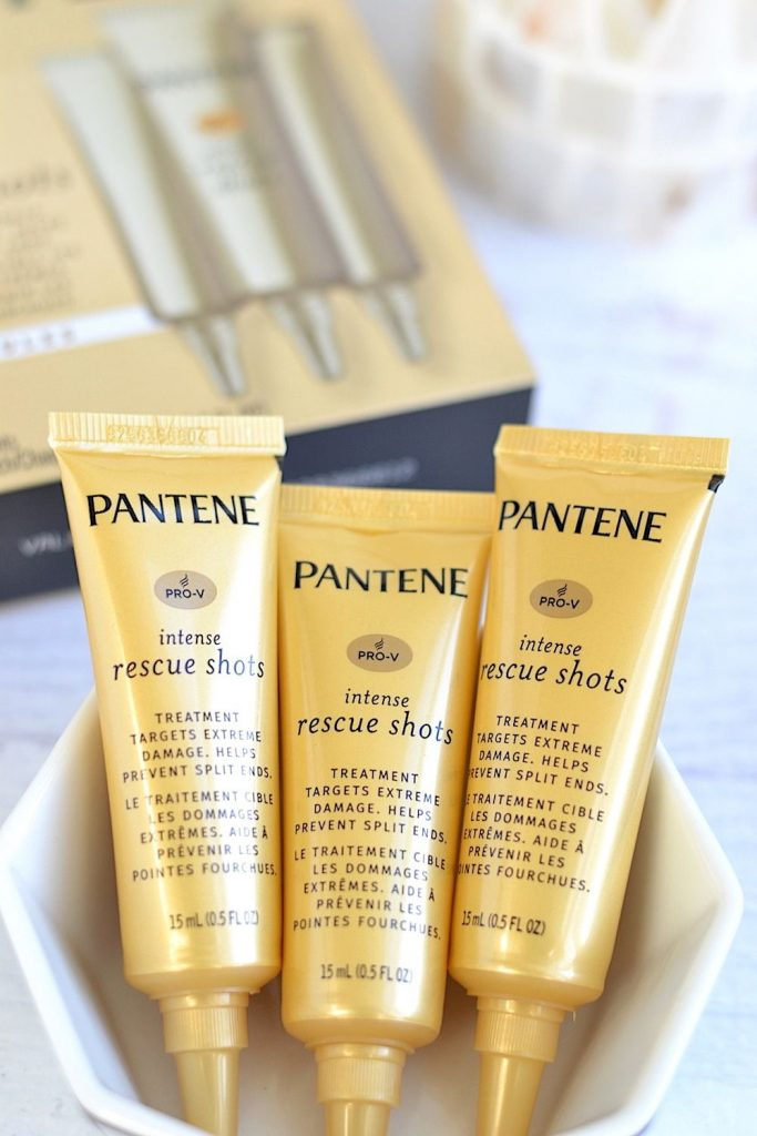 3 Pantene Pro V Intense Rescue Shots displayed in a box.