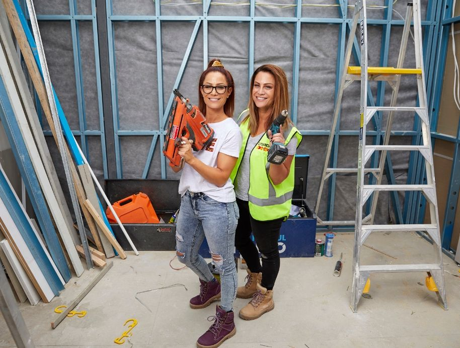 Alisa and Lysandra Fraser on Channel Nine's The Block