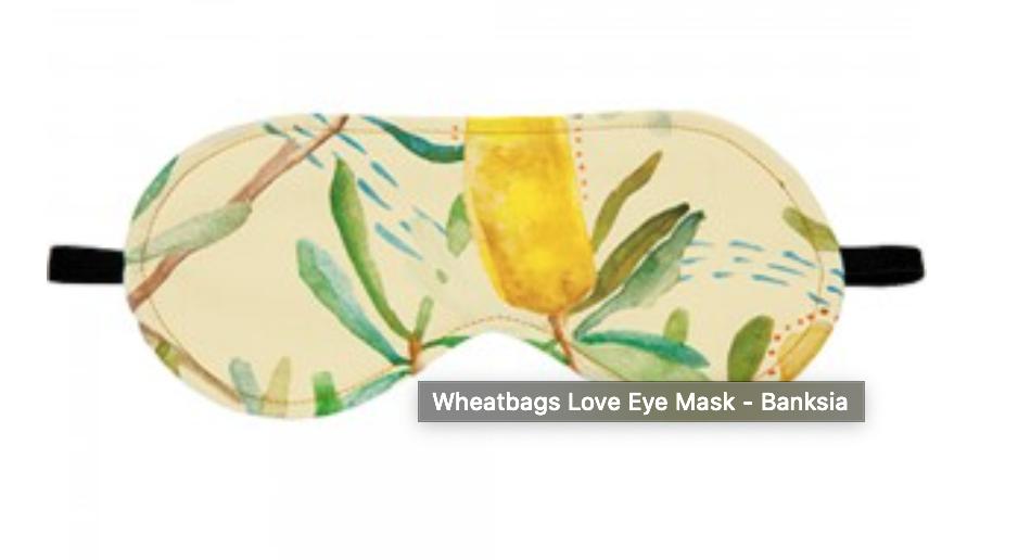 Wheatbags Love Eye Mask - Banksia Design RRP $25