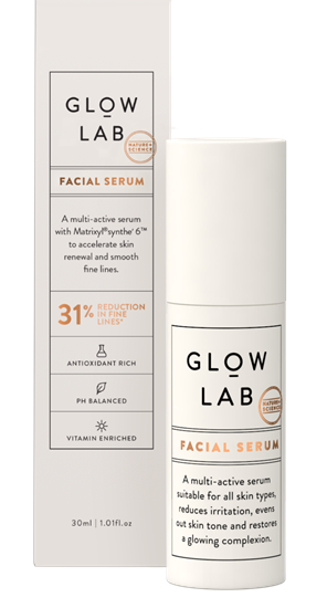 Glow Lab serums for dry winter skin