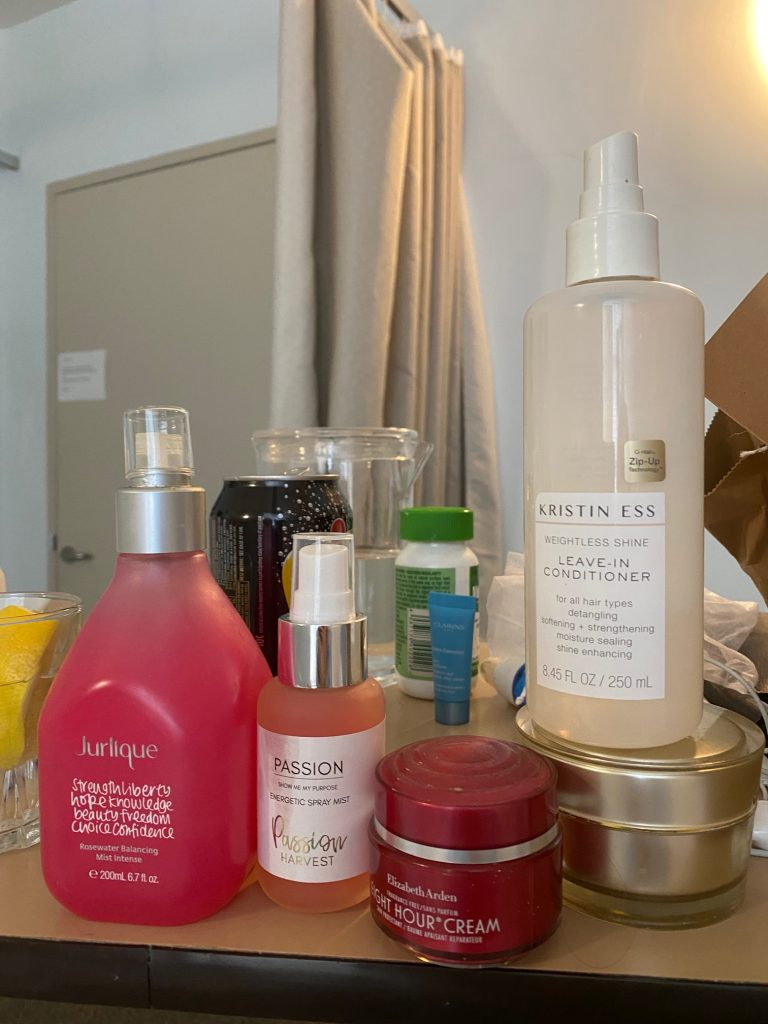 Beauty products for a hospital stay