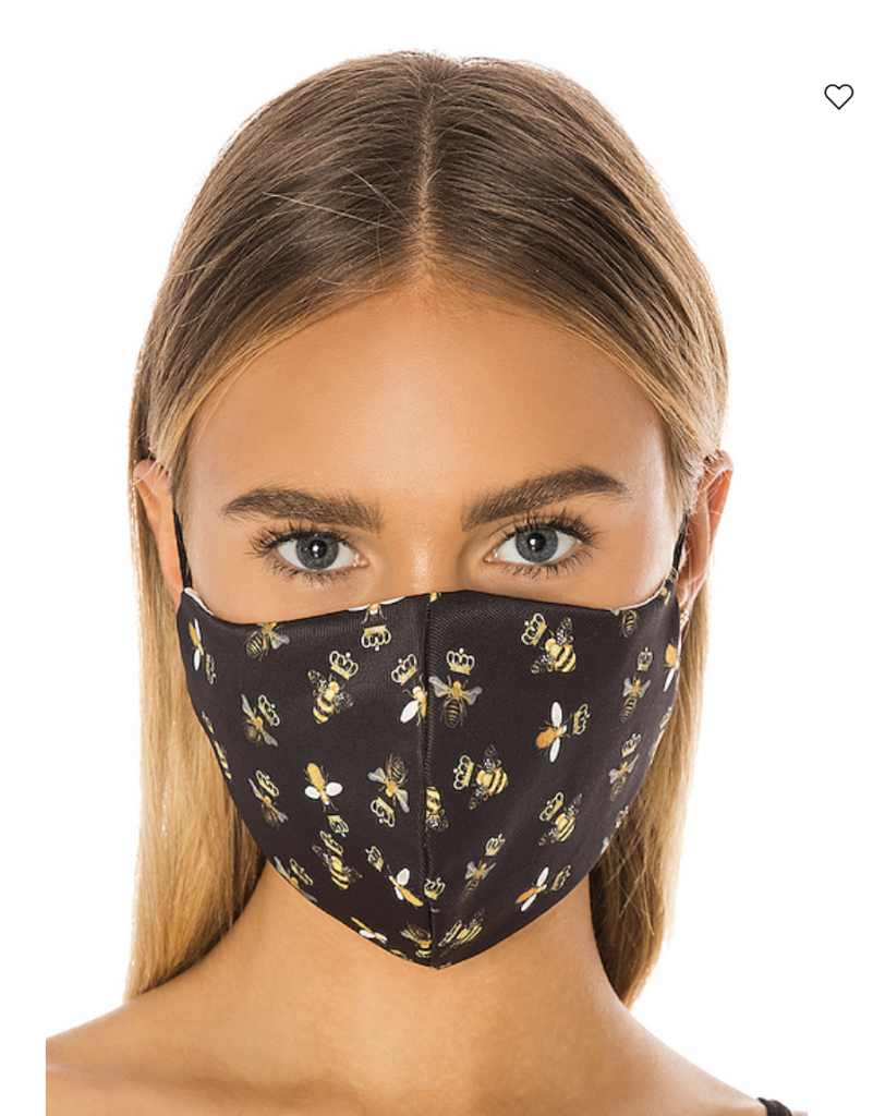 reusable face mask from revolve with bee pattern
