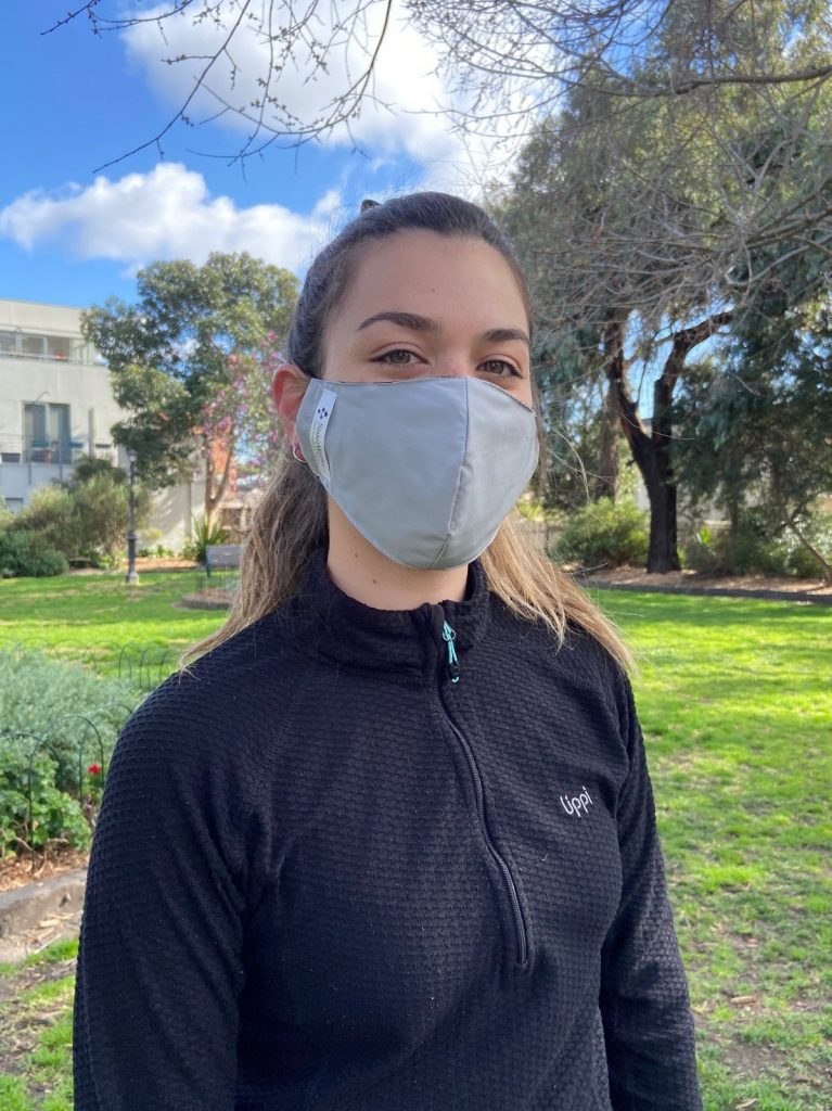 sister works reusable face mask made for exercise