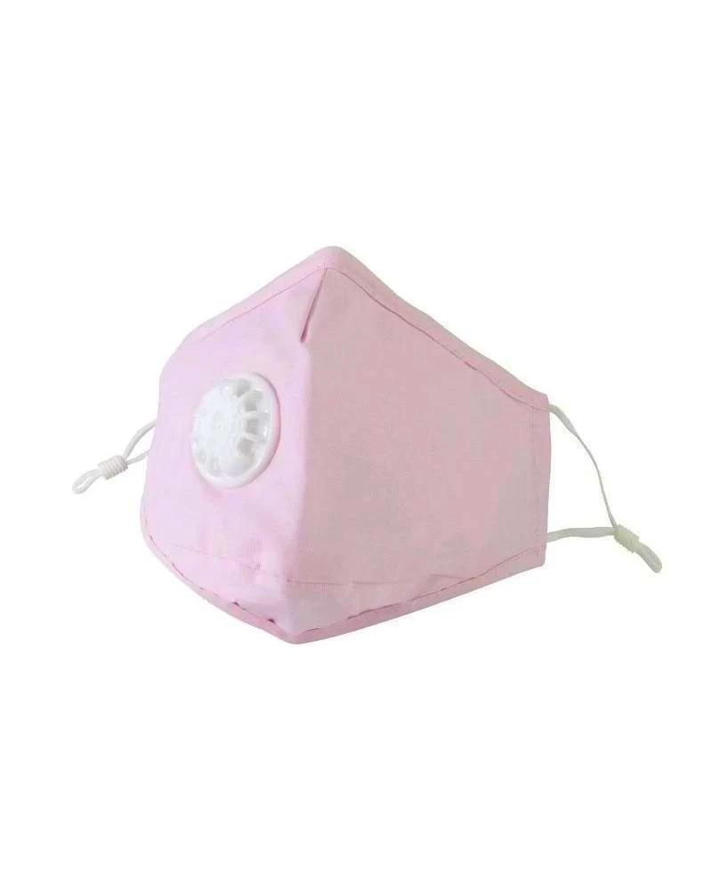 pink clear collective reusable face mask with valve