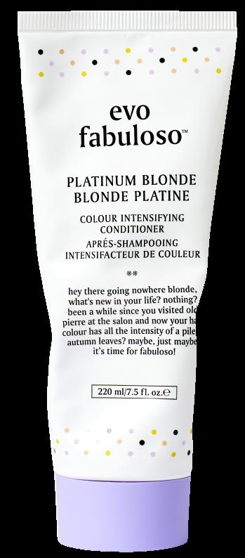 Evo Fabulosso Platinum blonde hair treatment, damaged hair solution