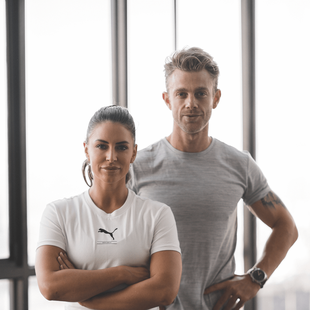 FLOWST8 workout creator Dave Nelson and Rhi