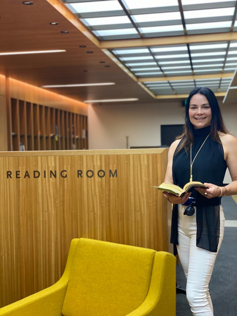 Renae at The National Library in Canberra last weekend.
