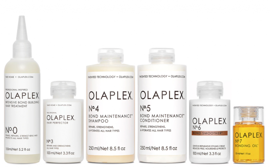 6 Products sold in a set from the Olaplex haircare range.