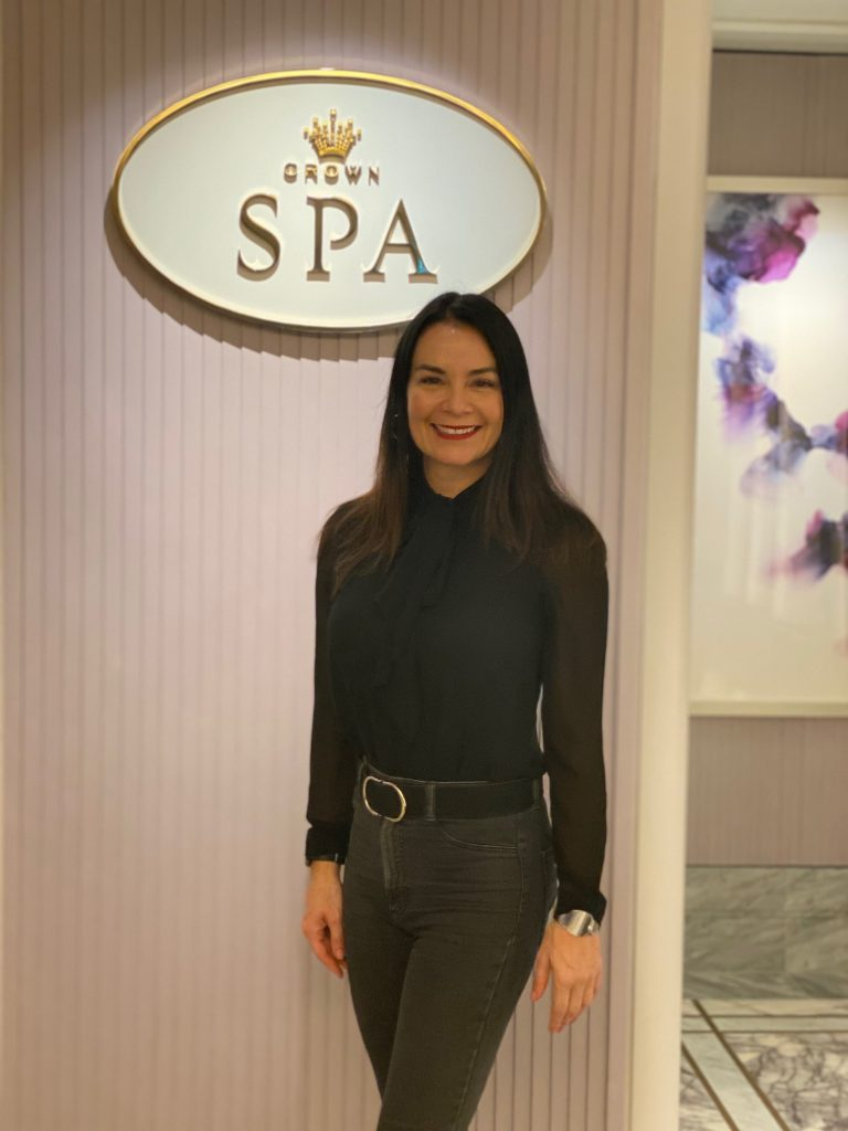 Renae in the entrance of Crown Spa Sydney