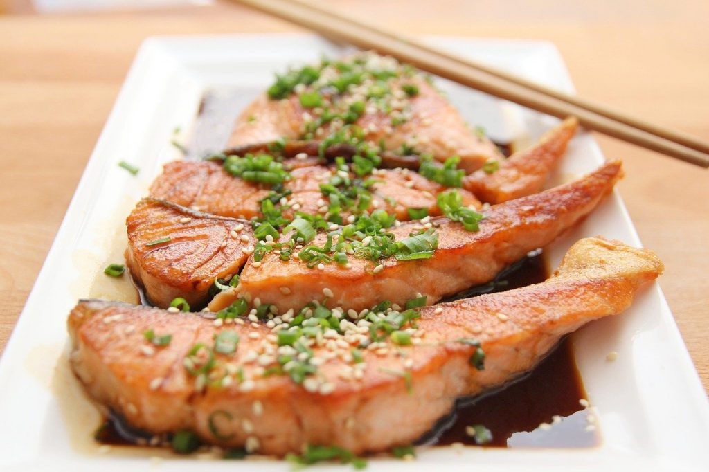 Salmon is full of natural iron to help boost your immune system and nervous system function.