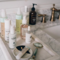 How to Spring Clean your Makeup Routine - products on basin sink